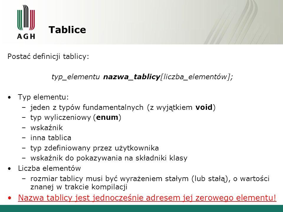 typ_elementu nazwa_tablicy[liczba_elementów];